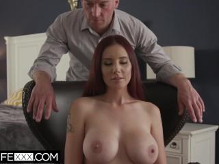 HotwifeXXX - Big Tit Redhead Wife Lilian Deepthroat Cum On Tits