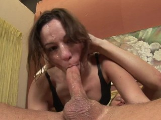 Amber Rayne loves gag and spit - Extreme deephtroat