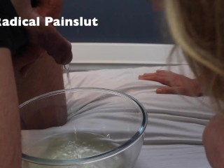 Submissive Painslut Humiliated with Hair Pulling, Face Slapping and Piss