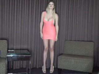 """Height humiliation from 6'1"""" 186cm tall woman plus heels"""