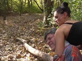 Update Mistress Ronja and chick Lucy dominate and humiliate slave outdoor