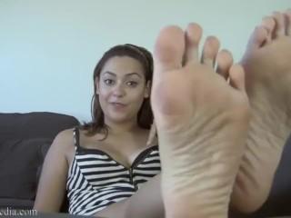 Mixed Girl Feet | Anais Joile Nylon Feet Tease | Foot Slave Humiliation POV