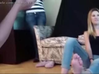 Lesbian feet spitting humiliation