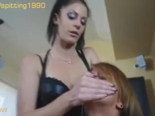 Lesbian Spit Smothering Humiliation