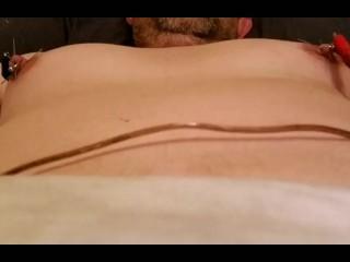 Shocking nipples with needles