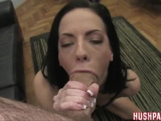 Aliz shockingly takes a huge dick in her behind!