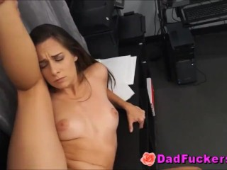 dick Mad Latino Daughter With Small Perky tits rides Shocked Dad