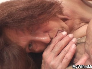 She gets shocked when finds mother inlaw riding his dick