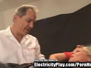 Electro Shocked Birthday whore MILF