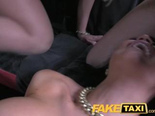 FakeTaxi Hot fine taxi foursome gang bang