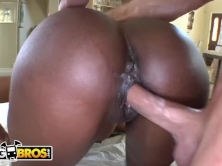 BANGBROS - black MILF Nyomi Banxxx Gets Her black big tits Massaged
