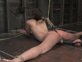 Amber Rayne in intense bondage double penetrated to her limits n ass hooked
