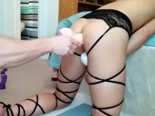 Anal training footage part2