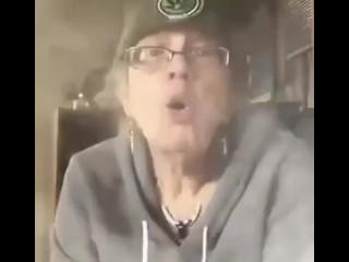 Grandma Sucking on a bong GILF