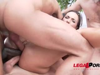 LegalPorno Trailer - Kristy ebony first triple anal