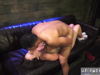 Lesbian bondage squirt hd and extreme rough triple penetration and step