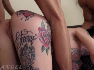 EVILANGEL Megan Inky Triple Penetration & Hardcore Face Fucking