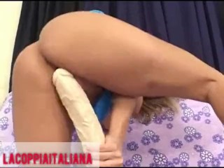 Big tits and ass amateur milf fuck herself with giant dildo
