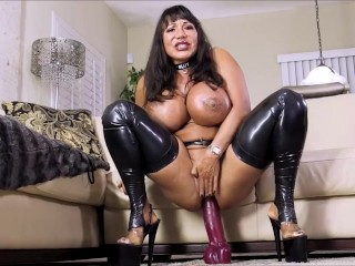 Ava Devine is taking a GIANT dildo in her ass