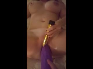 Swedish Milf takes on Queeny Love Giant dildo