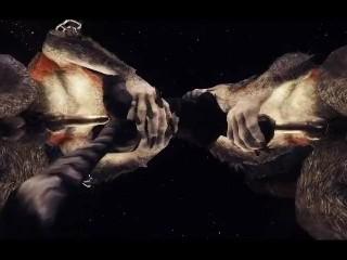 Khajiit split by giant werewolf cock 2