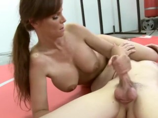wrestling blowjob