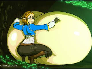 Tail-Blazer - Zelda Breast Expansion Animation (with vocals)