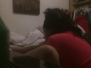 My Friends Mom Swallows My Load While I Jack Off In Her Bed