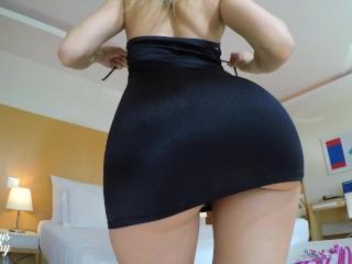 Bunda Maravilhosa! Provando Mini Vestidos (Upskirt Sem Calcinha)
