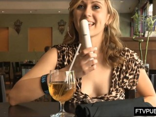 upskirt masturbation in cafe full of people