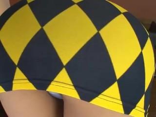 charming japanese MILF in tight too short miniskirt ! upskirt shame on her ! 7