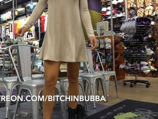 Hot teenie Upskirt in the Mall No Panties