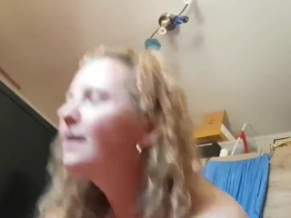 Crazy MILF having 6 orgasms with her ex hubby