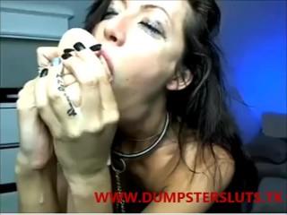 crazy girl deepthroating dildo