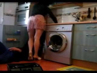 Turkish MILF drives this plumber crazy