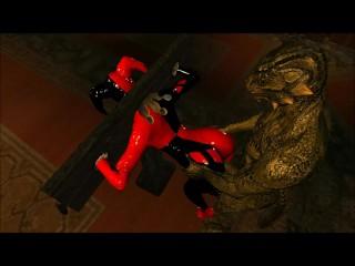 Harley Quinn Gets poked By Lizardman Skyrim 3D Porn