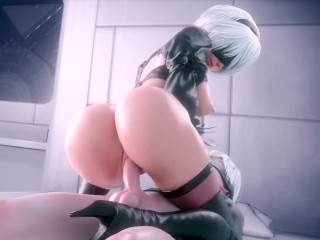 NieR: Automata 2B x 9S 3D Porn Game Best Sex Compilation