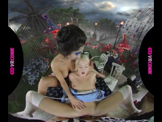 VRConk Fantastic Threesome With Alice In Wonderland VR Porn