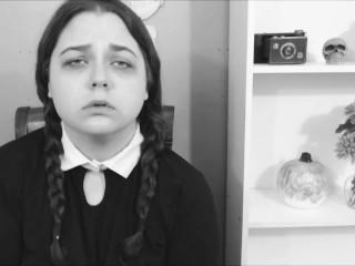 BBW Wednesday Addams Cums HARD for Thing - Halloween Porn