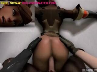 butt fuck in bed, overwatch porn parody