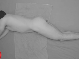 Moaning while his Prostate is Getting Stimulated- Restrained climax Torture