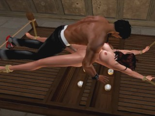 Brunette in Pantyhose loves Candle Torture Sex