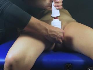 Multi orgasms clit massage-Post orgasm torture