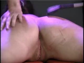 Bench Torture Master Whips Slave