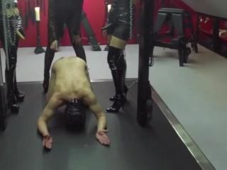 DanishMistressTrio-Human Ashtray, Spitting & Cigarette Torture