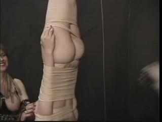 Dungeon Lesbians Nipple Torture Upside Down Hanging