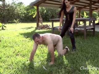 Torturing the slave's meat - Ballbusting
