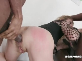 Sindy Rose's wrecked ass filled, fisted and poked by BBCs - gigantic Prolapse!