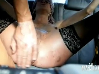 Fisting both her prolapsing wrecked holes