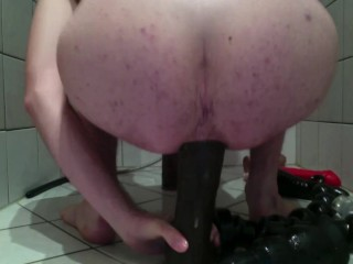 Bi stud prolapse his booty with monstrous toys